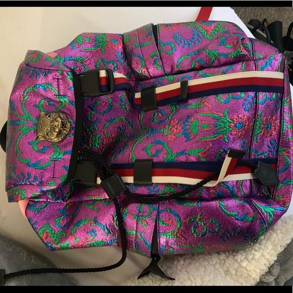 7645ae62d5f Gucci Handbags - Gucci Techpack Brocade Backpack